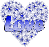 blue heart love text bleu coeur