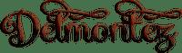 soave text logo delmontez brown
