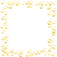 yellow bubbles frame cadre jaune