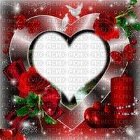 Fond rouge coeur rose rouge bougie oiseau papillon fleurs Debutante