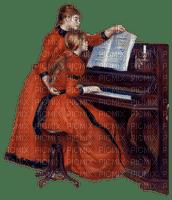 Mother daughter woman child music vintage - Mère fille femme enfant musique vendange - paintinglounge