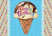 image encre color effet à pois la crème glacée happy birthday edited by me