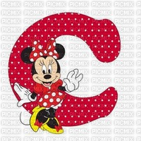 image encre lettre C Minnie Disney edited by me