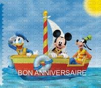 image encre couleur  anniversaire effet bateau fantaisie vacances  Mickey Disney  edited by me