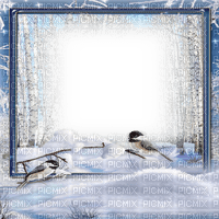 winter forest frame birds