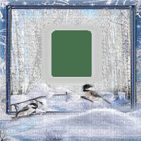 winter forest frame birds