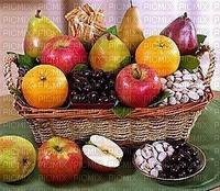 Fruits et noix séchées et chocolat dans un panier