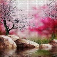 image encre couleur paysage fleurs printemps edited by me