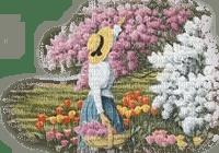 spring woman garden