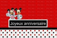 image encre color anniversaire effet à pois  Minnie Mickey Disney edited by me