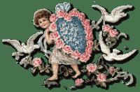 Valentine angel and doves Joyful226