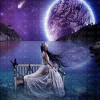 woman moon fantasy bg