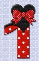 image encre numéro 1 bon anniversaire Minnie Disney edited by me