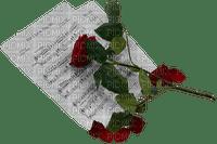 Rose et partition