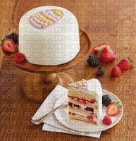 gâteau aux pâques et fruits