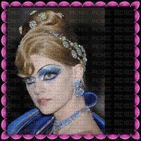 image encre couleur texture rahmen femme visage edited by me