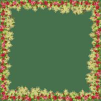 cadre fleurs roses