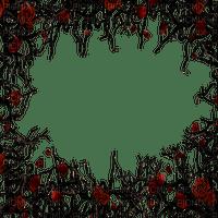 goth frame roses thornes
