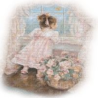 girl child window  vintage enfant vintage fenetre