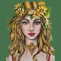 woman autumn fantasy flower flowers kikkapink
