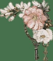 Fleurs.Aquarelle.Flowers.Pink.Key.Victoriabea