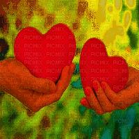 valentine hearts bg  mains coeur fond