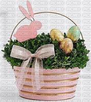 panier de Pâques oefus en chocolat lapin