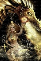 woman dragon fantasy laurachan