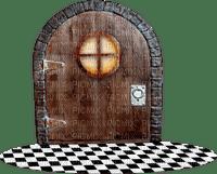 door tür porte passage medieval middle age floor wood brown tube  room chambre zimmer