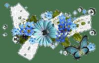 Blue Flower.Deco.Fleur.Papillon.Butterfly.Victoriabea