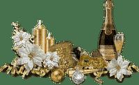 new year  silvester fleur deco gold fond ball