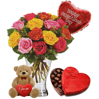 Happy Valentine's Day Bouquet of Roses