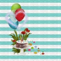 image encre gâteau pâtisserie ballons  bon anniversaire edited by me