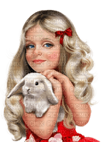minou-girl-flicka-red-röd-kanin-rabbit