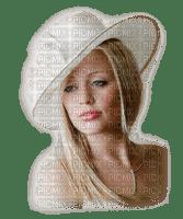 buste et chapeau blanc