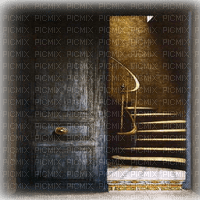 door stairs goth bg porte gothique fond