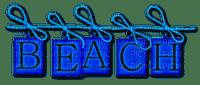 Beach.Text.Blue