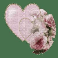 hjärta-blommor--rosa--heart and pink flowers