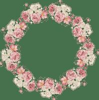 flower circle frame cercle fleur cadre