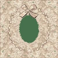 cream lace frame