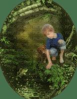 child enfant garden fishing