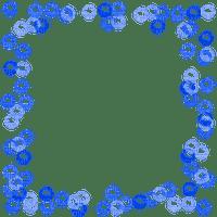 blue bubble frame cadre bleu