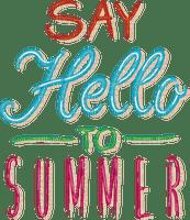 text summer hello