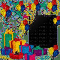 happy birthday deco  frame cadre