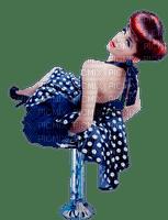 woman polka dot bp
