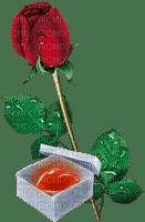 Red Rose Green Heart Box Drops  - Bogusia