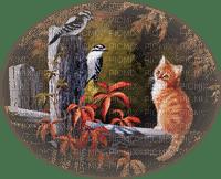 Kaz_Creations Paysage Scenery Cat Kitten Birds
