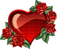 coe coeur love rose rouge glitter gif deco animé