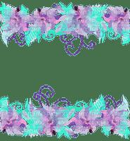purple blue floral border violet bleu fleur bordure cadre