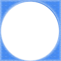 blue circle frame--bleu cercle cadre